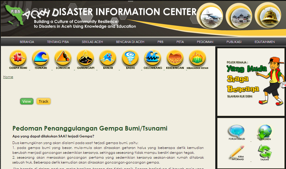 Pusat Informasi Bencana Aceh